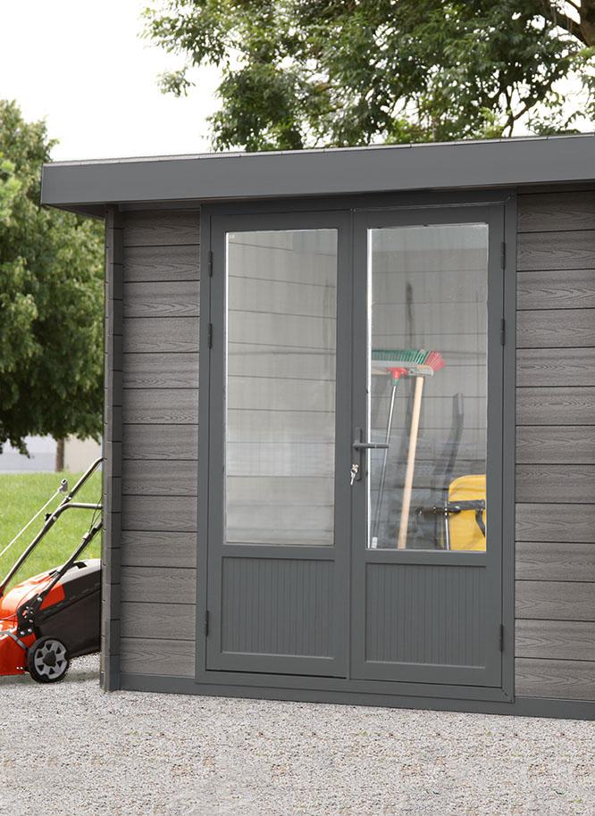 Nutzen Sie Ihr WPC-Gartenhaus von Holz Gar in Aumühle südlich von München als Gerätehaus.